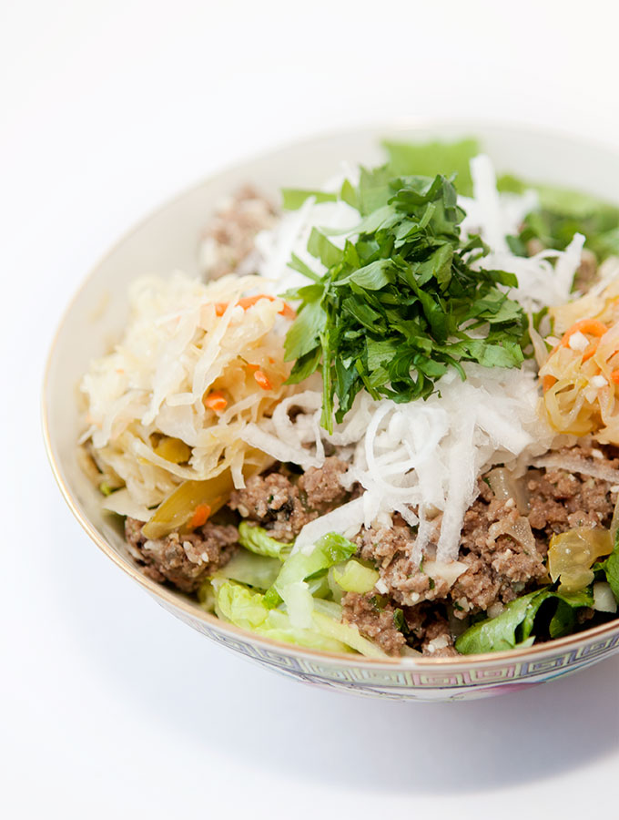 Ginger Zing Quick Beef Sauté Salad