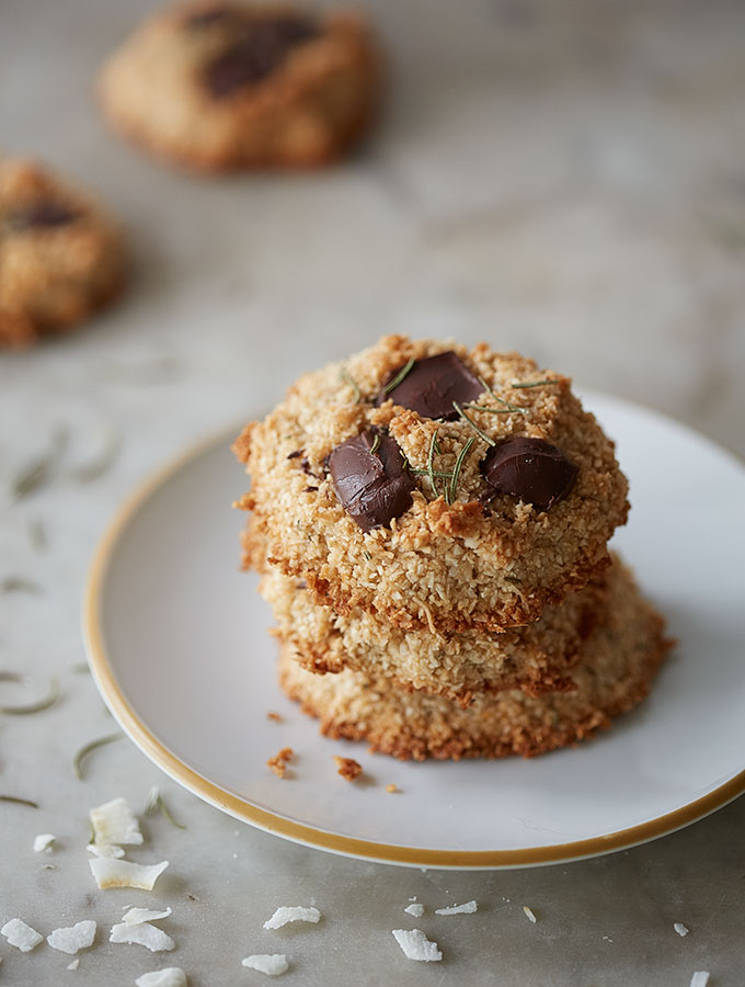 Chocolate Rosemary Macaroons