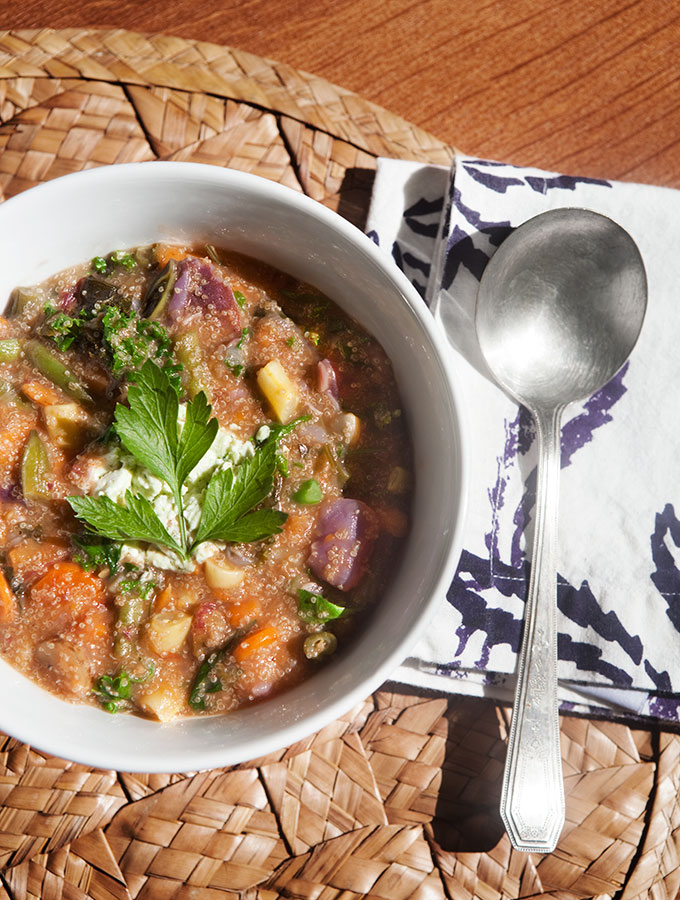 The Pasta Cure: Veggie Amaranth Stew