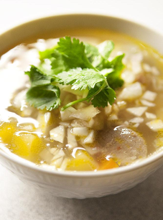 Cheaters Żurek: A Sour + Savory Soup