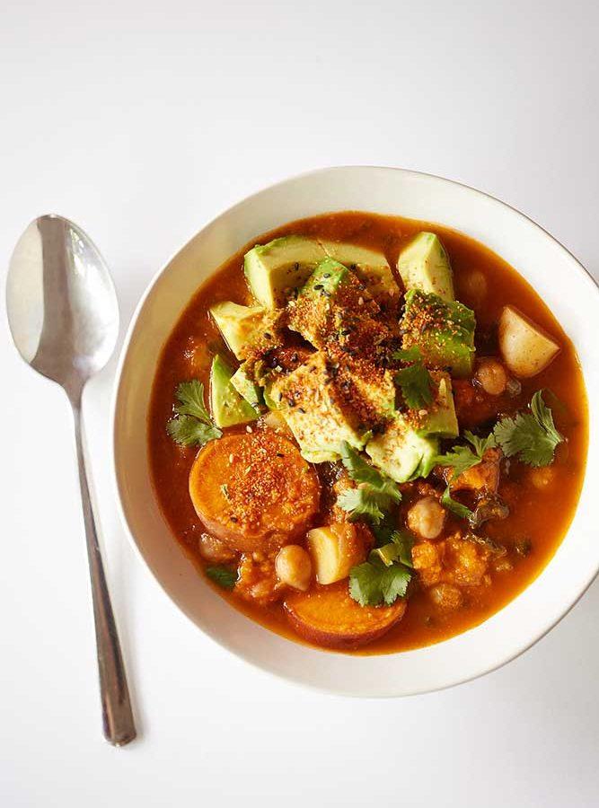 Tunisian Lamb Shank + Chickpea Chard Shiitake Stew