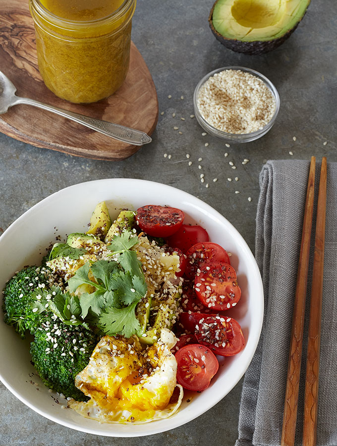 Toasted Sesame & Miso Broccoli Bowl