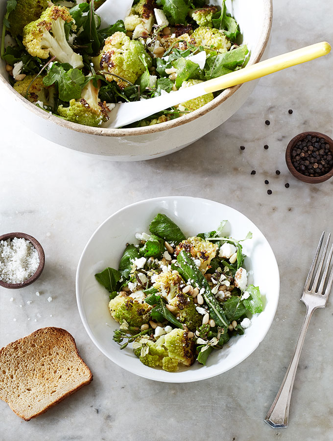 Pine Nut & Feta Rustic Cauliflower Salad
